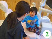 予診票をもとに、お子様の現在のお口・お体の状況について問診を行います